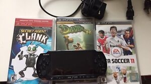 PSP+CHARGER+3 GAMES 80$ OBO