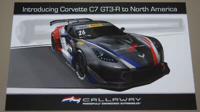 "24/"" x 36/"" Poster Callaway Corvette GT3 R  C7"