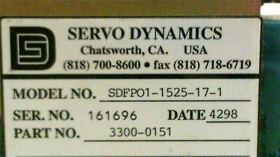 Servo Dynamics Servo Chassis Sdfpo1-1525-17-1 O2-9