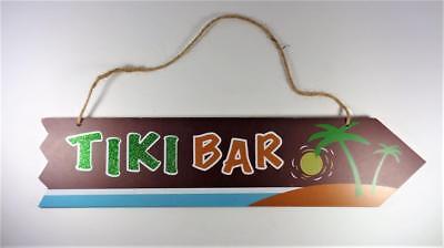 TIKI BAR WITH PALM TREES, SUN & BEACH LUAU DECORATIVE BEACH BAR HOUSE WALL SIGN