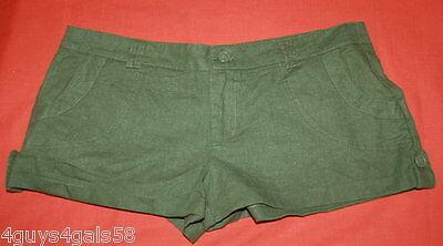 Rise Cuffed Short - JR Womens Short Shorts GREEN Low Rise CUFFED 3 5 11 13 17