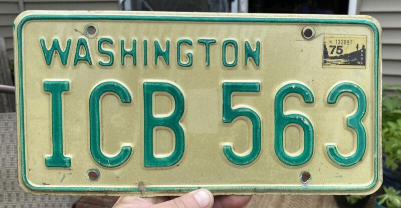 1968-1982 Washington State Passenger Vehicle License Plate Single ICB 563