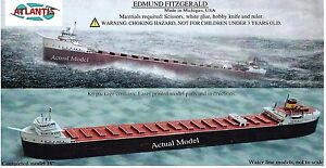 Edmund Fitzgerald Great Lakes Freighter Boat Paper Model by Atlantis Toy & Hobby