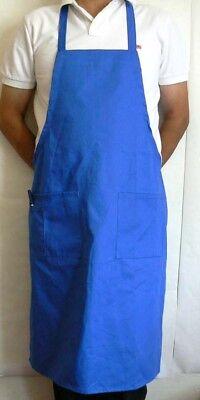 144pcs Blue Bib Aprons 2 Pouch 1 Pen Pocket Restaurant Waiter Server Bapblx144