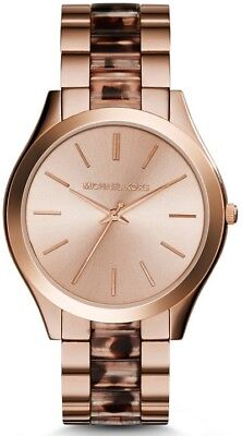 Michael Kors Women's MK4301 Runway Rose Gold Quartz Watch NWT.