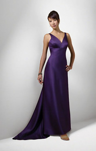 Gorgeous BRAND NEW Alfred Angelo Floor Length Dress Eggplant