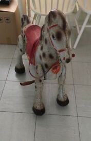 Vintage Mobo Walking Horse w/ Leather Reins