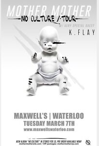 Need One Mother Mother Ticket @ Maxwells on March 7th