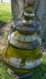 Vintage Frederick Cooper Glazed Porcelain Table Lamp