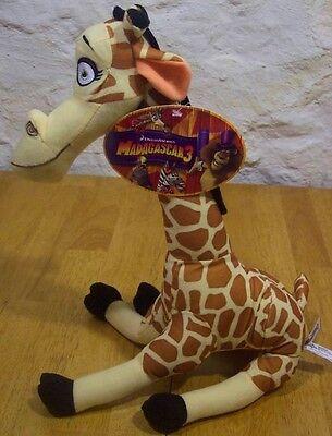 """Madagascar 3 MELMIN GIRAFFE 13"""" Plush Stuffed Animal NEW W/ TAG"""