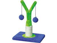 Cat Kitten Scratching Post Toy Tree Scratcher Sisal Rope Activity Climbin