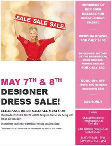 Dress garage sale!!