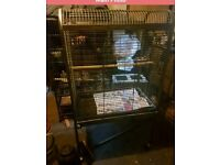 Large top opening parrot cage like New