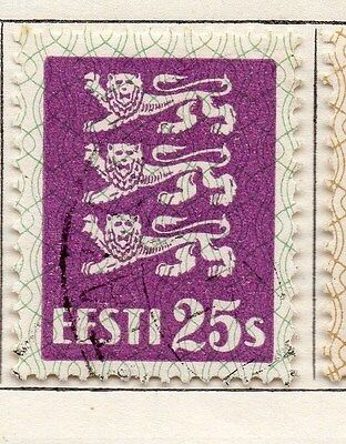 Estonia 1928-29 Early Issue Fine Used 25s. 087906