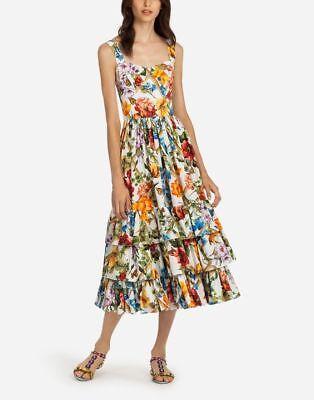 Dolce&Gabbana Tier Hem Poplin Dress Original:$2595.00 + tax 12US / 46IT
