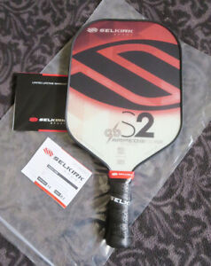 NEW - SELKIRK S2 AMPED PICKLEBALL PADDLE RUBY RED