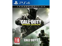 Call of duty COD infinite warefare Legacy edition with MW remastered PS4