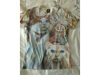 Drop Dead cat t-shirt small