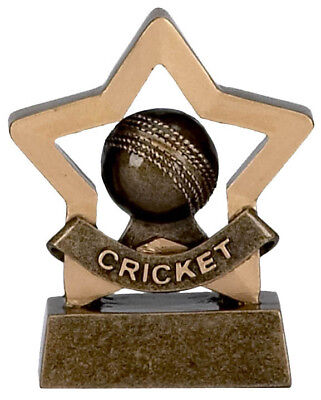 Resin Cricket (GOLD SOLID RESIN CRICKET BALL MINI STAR TROPHY SCHOOL AWARD  8cm A969 GMS )