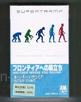 Sealed SUPERTRAMP Brother Where You Bound JAPAN CASSETTE TAPE AMC-28073 w/PS