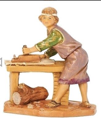 "Roman Inc Fontanini 5"" Nativity Set Hershel Carpenter Figurine Italy New in Box"