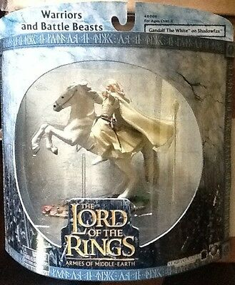 Lord Of The Rings Gandalf The White On Shadowfax Warriors And Battle Beasts Mint