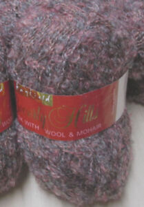 British mohair boucle yarn by Hayfield