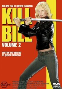 KILL BILL VOLUME 2 DVD=UMA THURMAN=REGION 4 AUSTRALIAN RELEASE=NEW AND SEALED