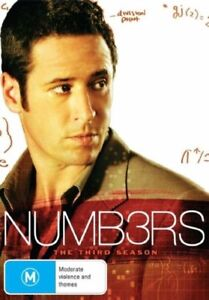 Numbers : Season 3 (DVD, 2008, 6-Disc Set) New