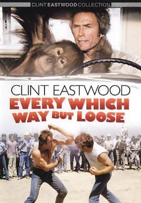 EVERY WHICH WAY BUT LOOSE USED - VERY GOOD DVD (Clint Eastwood Halloween)
