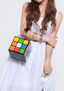Women-039-s-Fashion-Bag-Cute-Rubik-039-s-Cube-Casual-Tote-Stachel-Handbag-Clutch