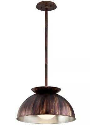 "Troy Lighting F5243 Library 1 Light Pendant Medium In Copper Patina 20,5"""