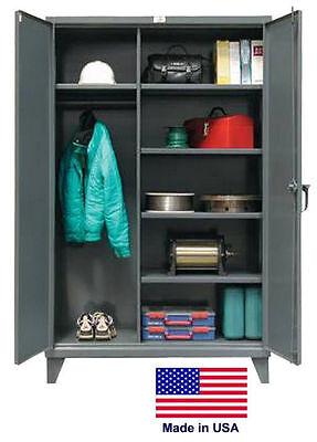 Combination Steel Locker Cabinet Commercial - Lockable - 78 H X 24 D X 72 W