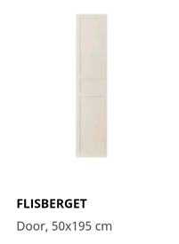 NEW 2 Flisberget Ikea wardrobe doors RRP£80, 50x195cm