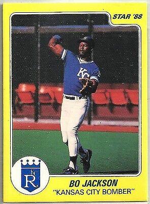 Bo Jackson 1988 Star Company Kansas City Royals Yellow Promo Card  - Party City Stars