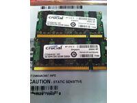 Crucial 2gb memory DDR2 SDDIMM CL5