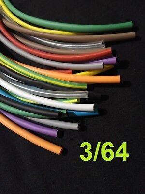 364 1.19mm Assorted 12 Colors 21 Heat Shrink Tubing Polyolefin 12 Foot