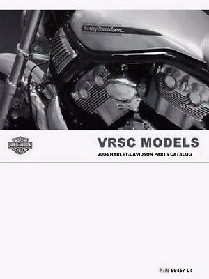 2004 Harley VRSC VRSCA VRSCB VROD V-ROD Part Parts Catalog Manual Book 99457-04 for sale  Midland