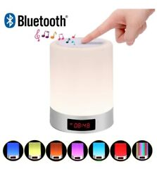 Touch lamp Bedside Lamp with Bluetooth Speaker Table lamp Alarm Clock USB