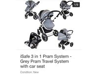 isafe 3-in-1 travel system and car seat