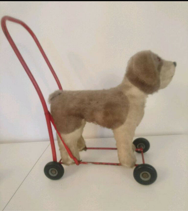 Vintage Toy Dog On Wheels Baby Walker Push Along In West