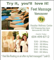 Feet Massage at Paradise Wellness Centre, Vancouver !!!!