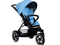 Phil and teds navigator sky blue stroller double