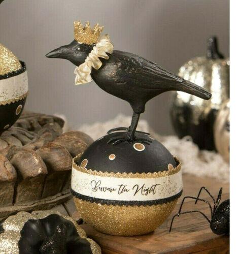 Bethany Lowe Creature of the Night Box Paper mache Black Raven Crow Halloween