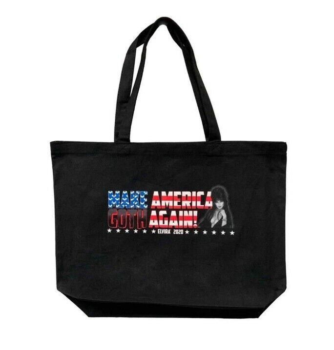 Elvira For President Make America Goth Again Tote Bag Kreepsville 666 Macabre