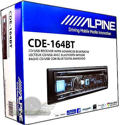Alpine Cde 164Bt In Dash Cd Mp3 Usb Aux Built In Bluetooth  Pandora Car Stereo