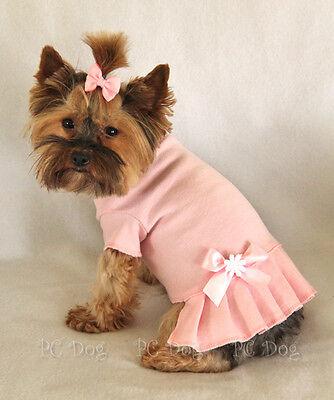 XXS Baby Pink T Shirt Dog Dress clothes pet apparel Clothing Teacup PC Dog®