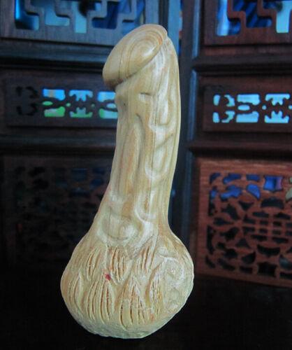 "Q4109 - 2"" Hand Carved Japanese Boxwood Netsuke : Men"