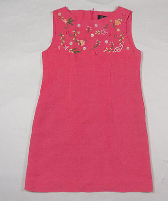 Girls Potato - POTATO TOMATO BOUTIIQUE GIRLS SIZE 7 PINK DRESS FLORAL FLOWERS BEADS SILK LINEN