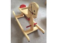 Beautiful children's Wooden Rocking Horse - great condition - hardly played with!